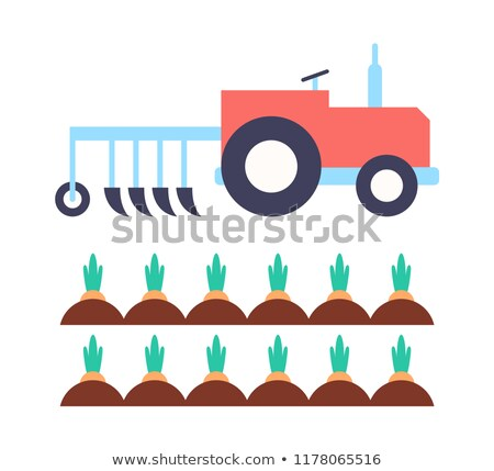 Agrimotor with Plough Carrot Vector Illustration Stock photo © robuart