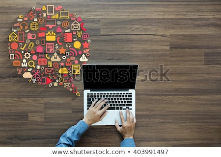 Digital marketing internet mensagens negócio vetor Foto stock © robuart