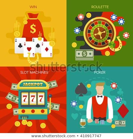 Speler roulette machine casino vector gokken Stockfoto © robuart