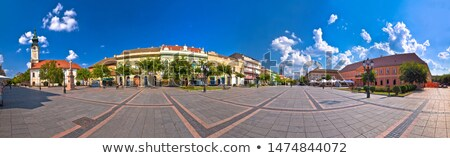 Stock photo: Town of Sombor square and architecture panoramic view