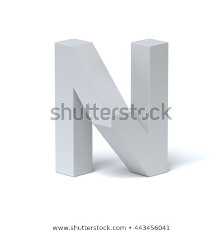 Blue extruded font Letter N 3D Stock photo © djmilic