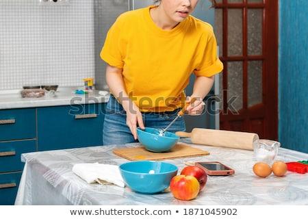 Mulher cozinhar vídeo alimentação saudável Foto stock © dolgachov