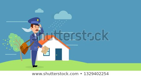 delivery in any weather postman delivers letters stock photo © robuart
