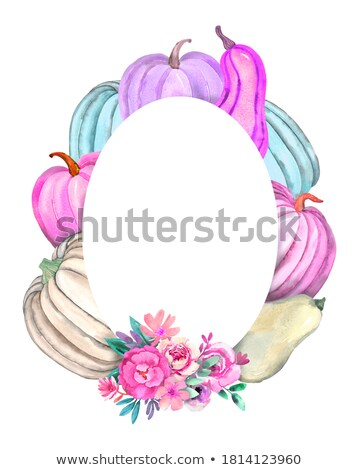 pastel color gentle posters with round frames stock photo © robuart
