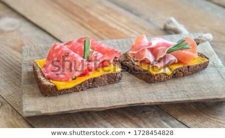 spanish sandwiches with salchichon anb jamon stock photo © alex9500