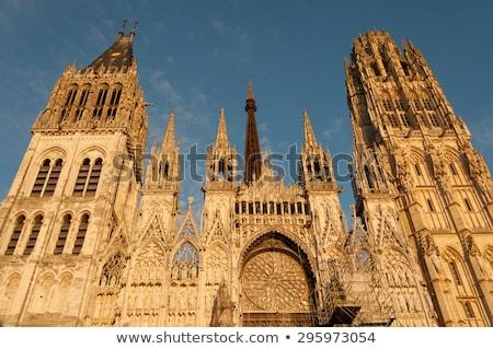 Katedrális Franciaország római katolikus gótikus Normandia Stock fotó © borisb17