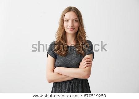 arbeiten · Essay · Klassenzimmer · Frau · glücklich - stock foto © pressmaster