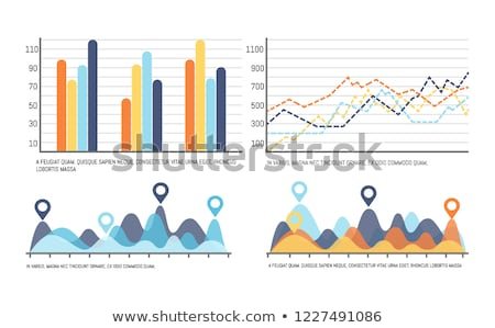 Infographic with Curves, Increasing Data Results Stock photo © robuart