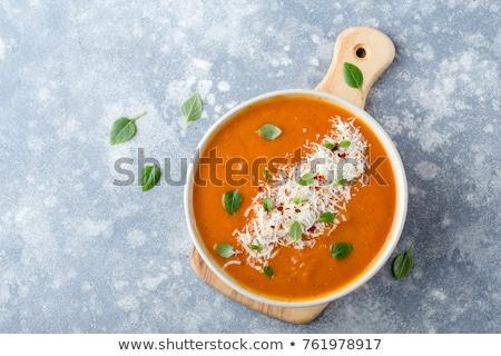 トマト · 野菜 · クリーム · スープ · 白 · 調理 - ストックフォト © karandaev