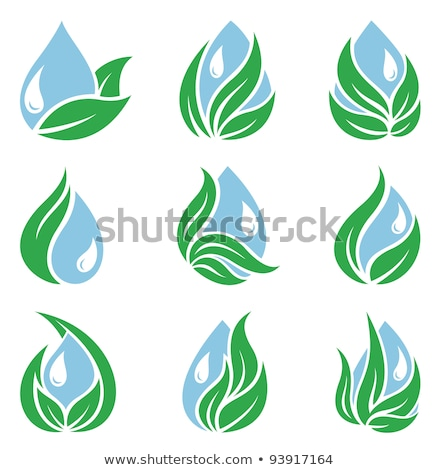 leaf and ripple icon set stock photo © bspsupanut