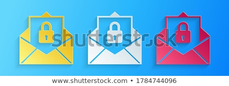 At sign and mail with padlock 3D Stock photo © djmilic