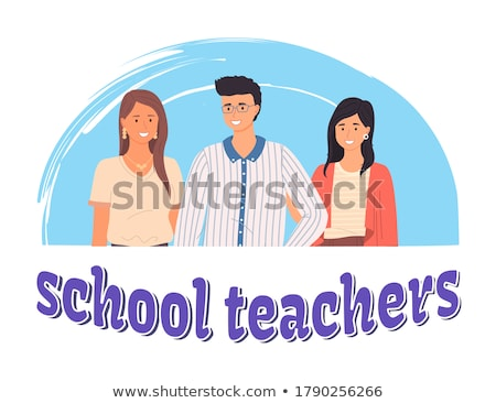 Happy Teachers Day, Portraits of Best Masters Stock photo © robuart