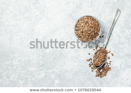 Verre jar brut naturelles organique graines de lin Photo stock © DenisMArt