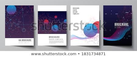 искусственный интеллект бумаги шаблон плакат стиль бизнеса Сток-фото © Anna_leni