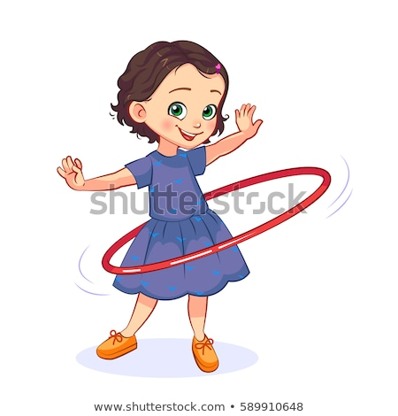 Cartoon girl with a hula hoop Stock photo © bennerdesign