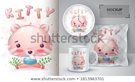 Cute kitty poster and merchandising Stock photo © rwgusev