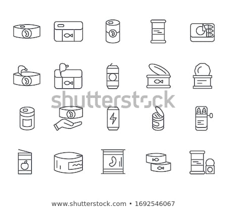 Canned Fish Tin Icon Vector Outline Illustration Stock photo © pikepicture