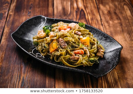 Spinach fettuccine  Stock photo © Alex9500
