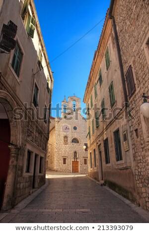 Templom szent Horvátország gótikus stílus égbolt Stock fotó © borisb17