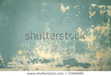 Paslı duvar yatay görmek turkuaz renk Stok fotoğraf © amok