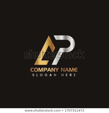 AP company group linked letter triangle logo. Corporate tech geometric identity concept. Stock Vecto Stock photo © kyryloff