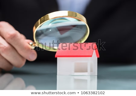 Magnifying Glass And Small House Stock photo © AndreyPopov