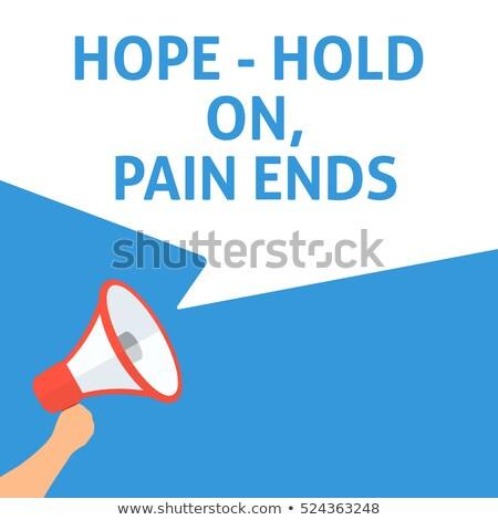 Esperança manter dor acrônimo mão escrita Foto stock © ivelin