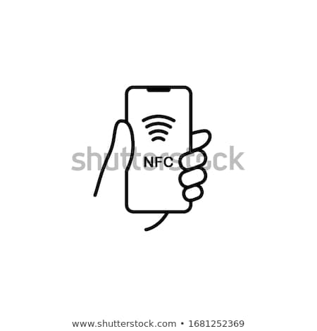 Telefoon icon vector schets illustratie Stockfoto © pikepicture