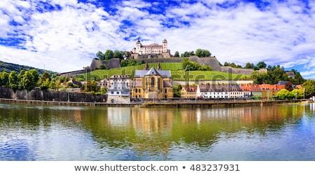 Panorama of Wurzburg in Bavaria, Germany, Europe Stock photo © kyolshin