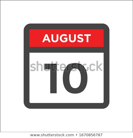 Simple black calendar icon with 10 august date isolated on white Stock photo © evgeny89