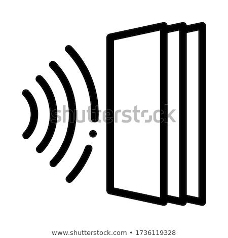 Soar porta ícone vetor ilustração Foto stock © pikepicture