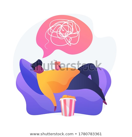 Physical inactivity vector concept metaphor Stock photo © RAStudio