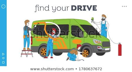 автомобилей Тюнинг посадка страница Auto ключа Сток-фото © RAStudio