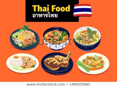 thai food / somtum Stock photo © stoonn