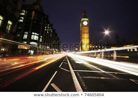 Big Ben znak autostrady zielone pałac westminster Londyn Zdjęcia stock © kbuntu