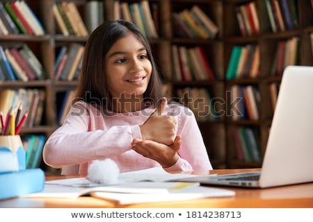 Stom gebaar mooie jonge vrouw vrouw Stockfoto © Hofmeester