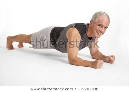 yoga man in white sportswear stock photo © Paha_L
