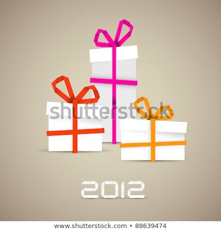eco · nouvelle · année · design · feuille · Creative · vecteur - photo stock © orson