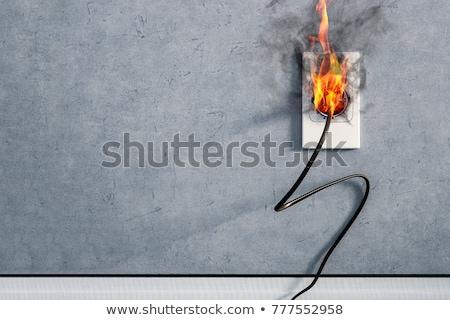 Rövid áramkör illusztráció erős elektromos kapcsolat Stock fotó © pkdinkar