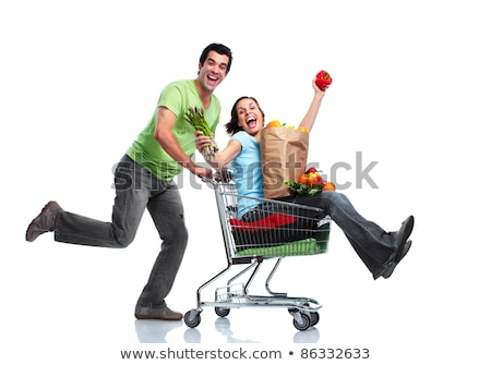 portrait · femme · légumes · femme · souriante · supermarché - photo stock © photography33