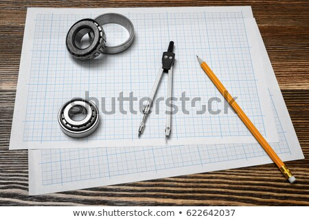Engineer holding technical drawing instruments Stock photo © photography33