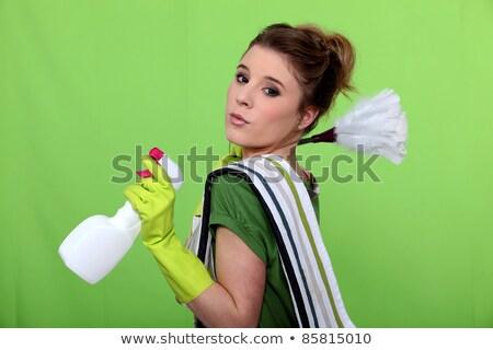 Temizlik yeşil peri çalışma iş gülen Stok fotoğraf © photography33
