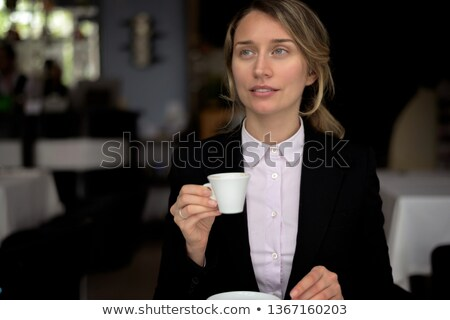 Pregnant Woman In Black Suite Foto stock © FrimuFilms