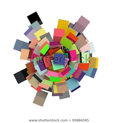 Rendering 3d concentrico multipla colori bianco Foto d'archivio © Melvin07