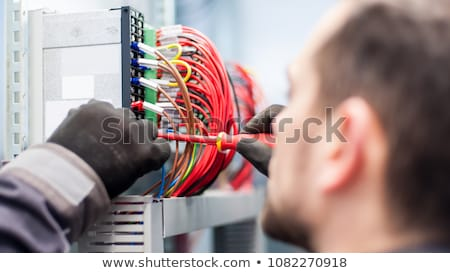 Electrician working on electrics Stock photo © photography33