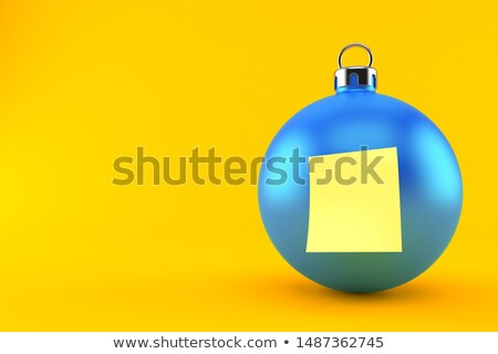 Christmas blue baubles, ornament and sticky notes Stock photo © calvste