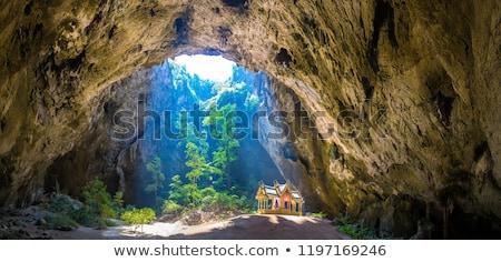 仏教 · 洞窟 · タイ · 顔 · 自然 · 光 - ストックフォト © witthaya