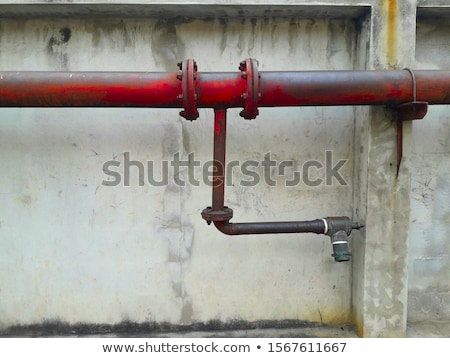 kırmızı · pvc · borular · sanayi - stok fotoğraf © antonihalim