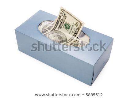 papírzsebkendő · doboz · izolált · fehér · fürdőszoba · textil - stock fotó © devon