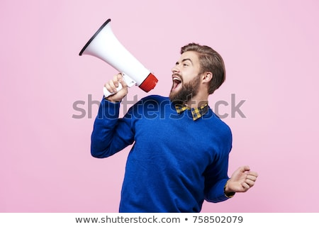 man with a megaphone Stock photo © photography33